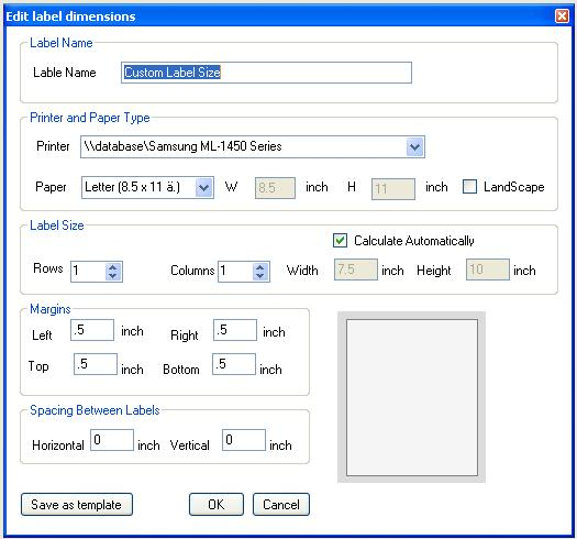 barcode label printing program software size editor