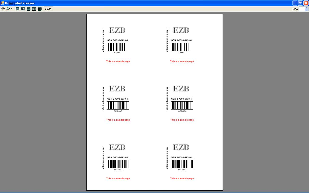 barcode label printing program software print preview